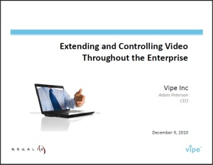 extending and controlling video
