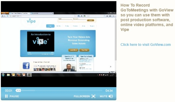 Recording GoToMeeting with GoView
